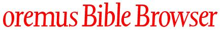 Oremus Bible Browser